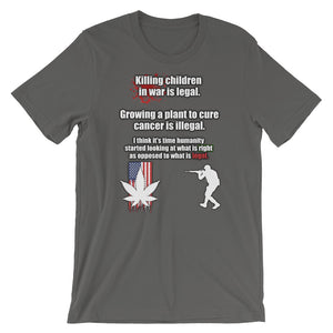 KILLING CHILDREN IN WAR CANNABIS WEED SHIRT