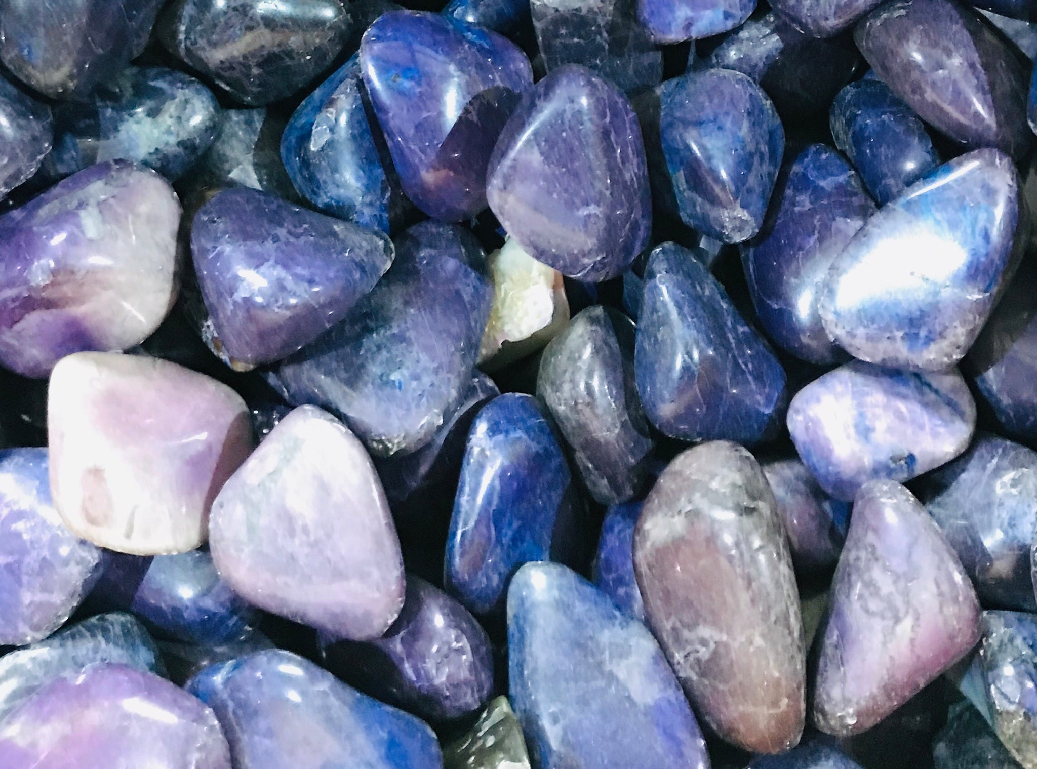 Purple Howlite Tumbled Stone
