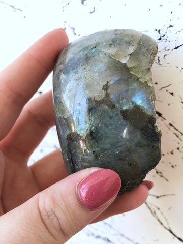 Labradorite Half Polished
