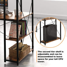 "Load image into Gallery viewer, Computer Desk 47"" with Bookshelf"