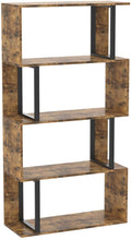Load image into Gallery viewer, 4 Tier S-Shaped Z-Shelf Bookshelves