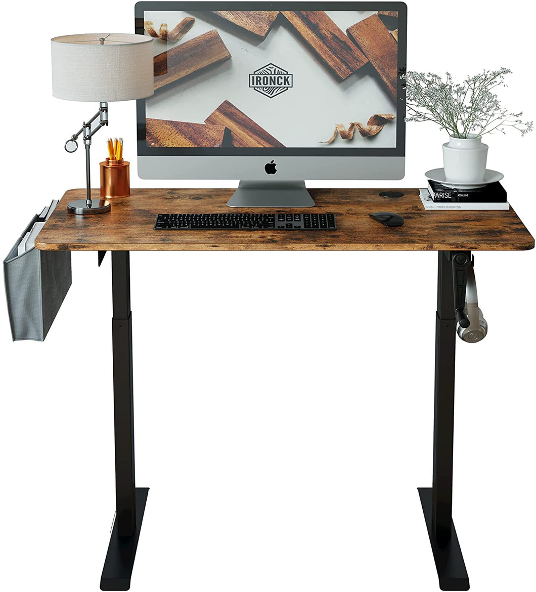 Adjustable Height Desk with Crank Handle