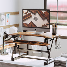 Lade das Bild in den Galerie-Viewer, Small Desk for Home Office,Adjustable Desk with Keyboard Tray