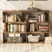 Lade das Bild in den Galerie-Viewer, 3 Tier Vintage Brown Bookshelf