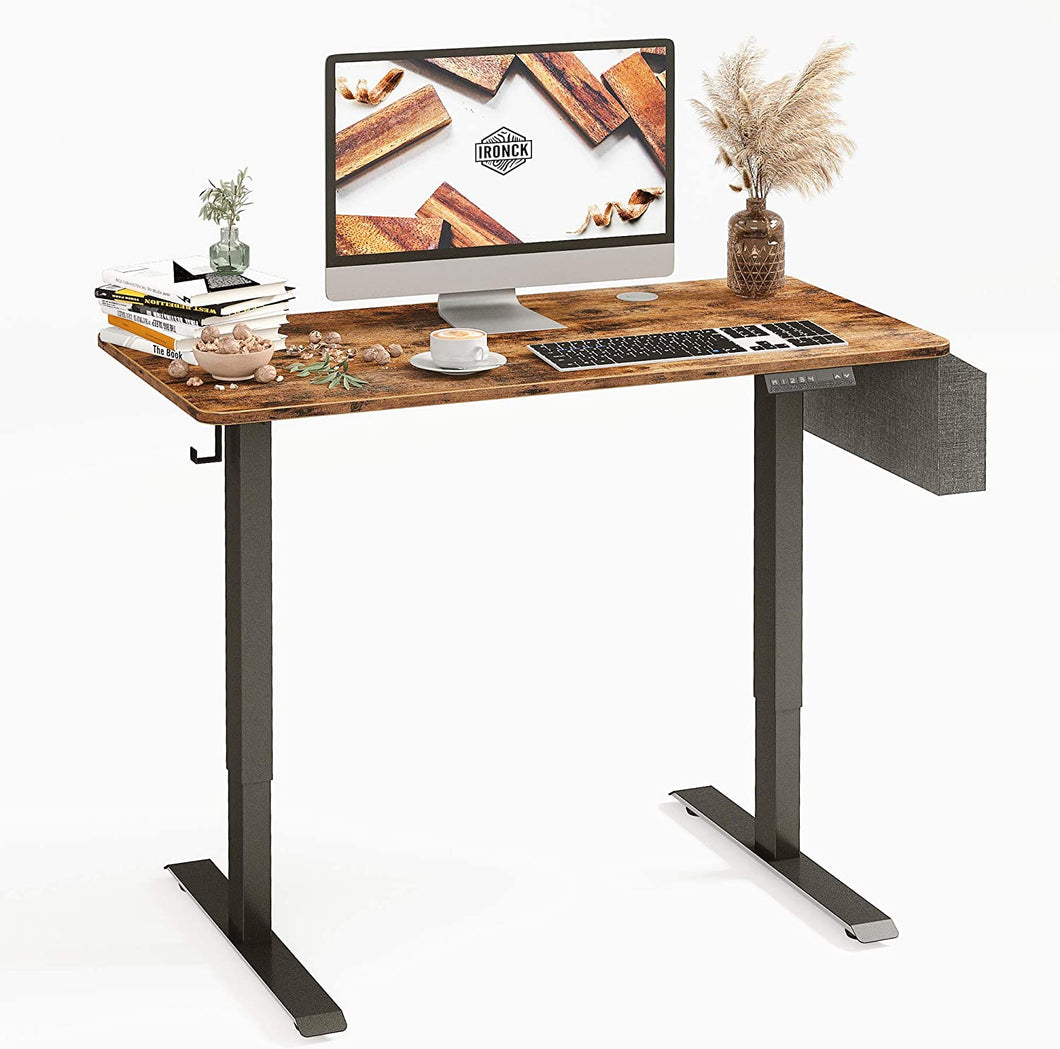 Electric Standing Desk with Storage Bag