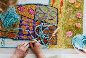 PUNCH NEEDLE RUG MAKING