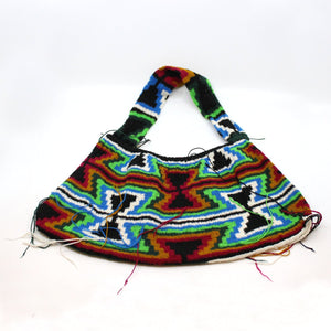 Handcrafted colourful Bilum Textiles Melinda & Doreen