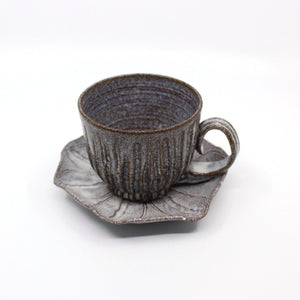 Ceramic Poppy Seed Head and Saucer Ceramics Carys Martin
