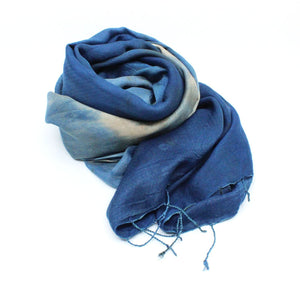 Silk and wool indigo wrap Textiles & Fibre Art Earth Fibre