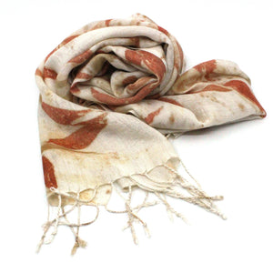 Silk and wool scarf Textiles & Fibre Art Earth Fibre