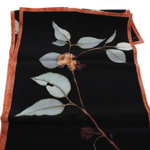 """Red Bud Mallee"" Long Silk Scarf Textiles Edith Rewa"
