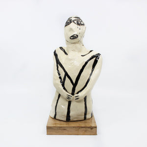 Large Standing Tall Series Sculpture Ceramics Joanne Braddy