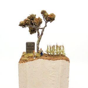 Blond brick Channel Series with corn fields Sculpture & Art object Karl De Waal