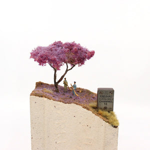 Blond brick Channel Series with jacaranda tree Sculpture & Art object Karl De Waal