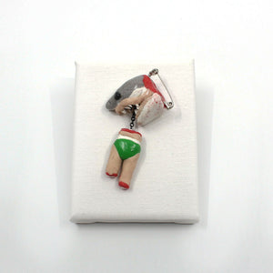 Never Swim at Dawn or Dusk Brooch Jewellery Leah Emery