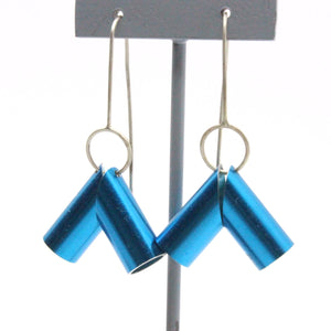 Blue Full Moon Tent Earrings Jewellery Alison McDonald