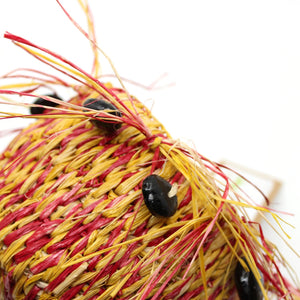Basket in Reds and Yellows Fibre Art MOA ARTS