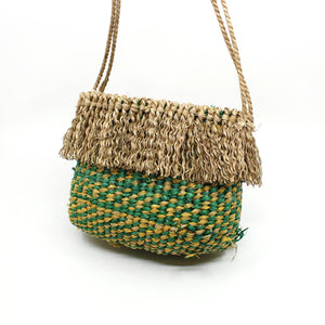 Bag in green/yellow Fibre Art MOA ARTS