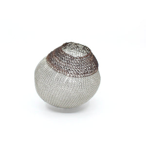 Stainless steel mesh ball two-tone Sculpture & Art object Design Crop