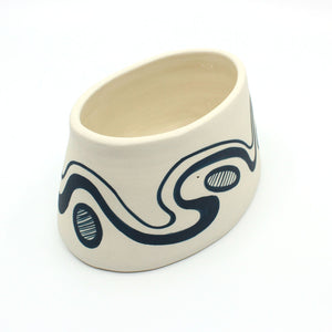 Flat Based Porcelain Vessel Homewares Ronelle Clarke