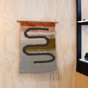 "Handwoven Wallhanging ""We'll Get There One Day"" Textiles & Fibre Shawnee Made & Found"
