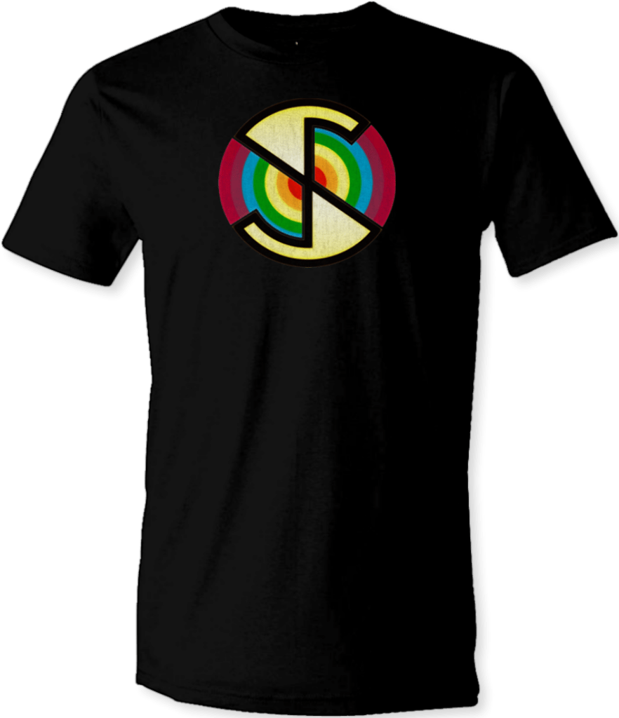 Printed T-Shirt Shop Small / Black Captain Scarlet Spectrum Logo T Shirt Stitch-Up Creative