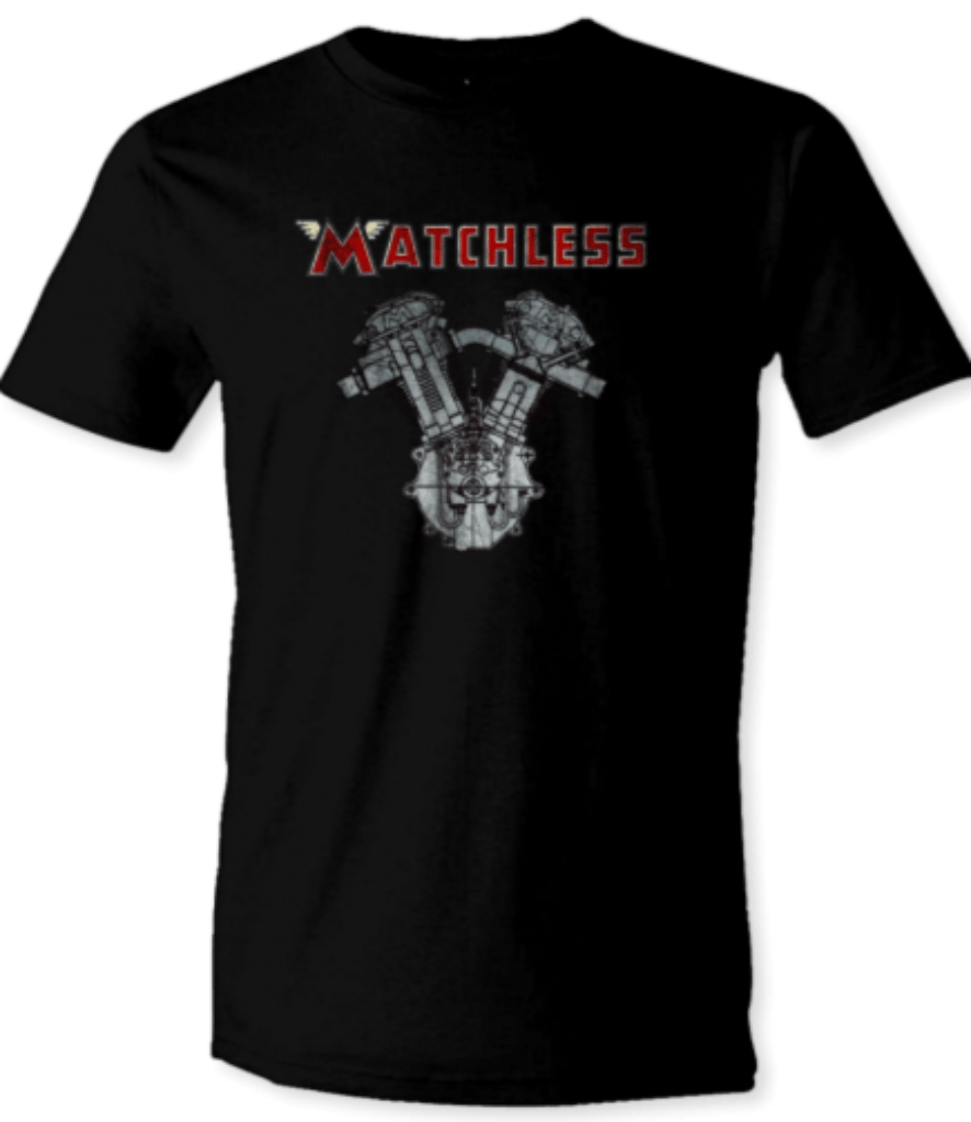 Printed T-Shirt Shop Unisex T-Shirt Small / Black Matchless Motorbike Engine T-Shirt Stitch-Up Creative