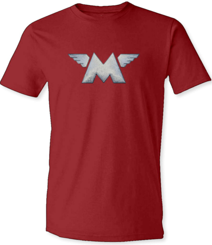 Printed T-Shirt Shop Unisex T-Shirt Small / Cardinal Red Matchless Motorcycle Logo Stitch-Up Creative