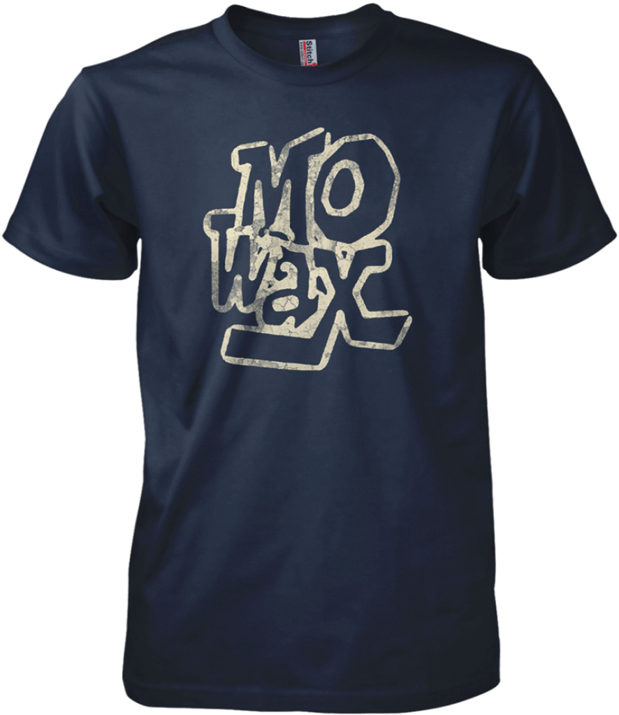 Printed T-Shirt Shop Unisex T-Shirt Small / Navy Mo Wax T-Shirt Stitch-Up Creative