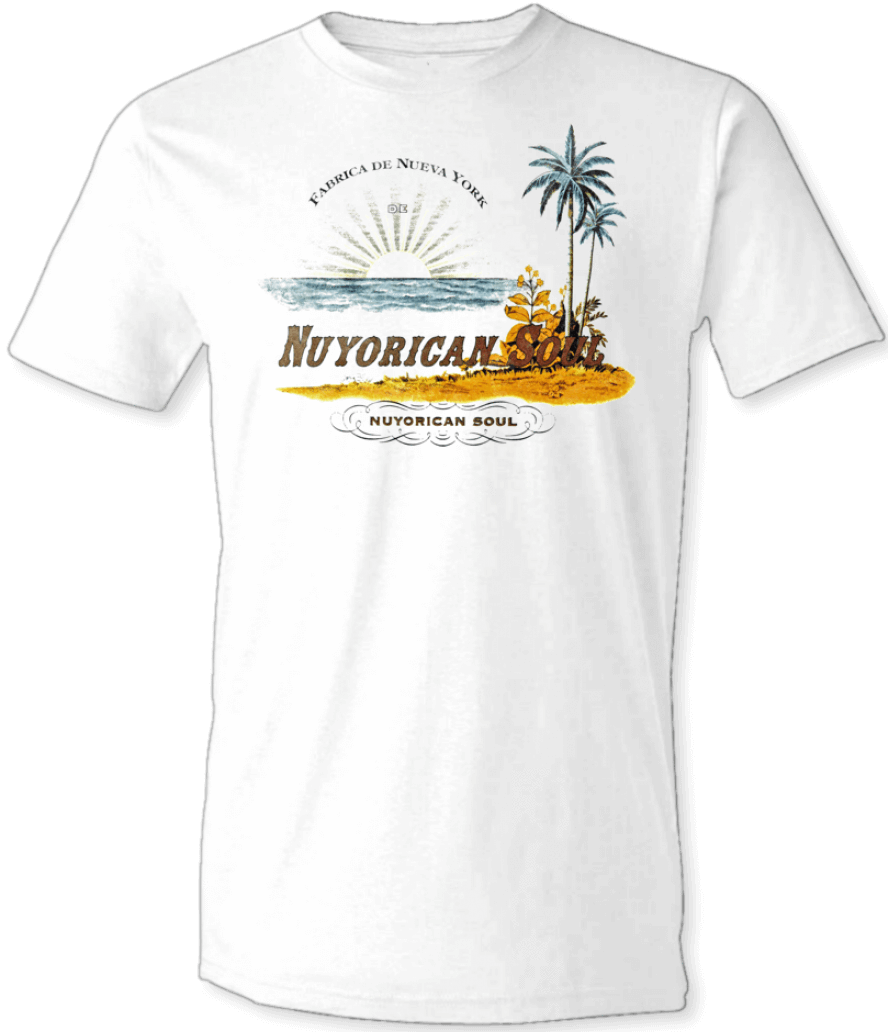 Printed T-Shirt Shop Unisex T-Shirt Small / White Nu Yorican Soul T-Shirt Stitch-Up Creative