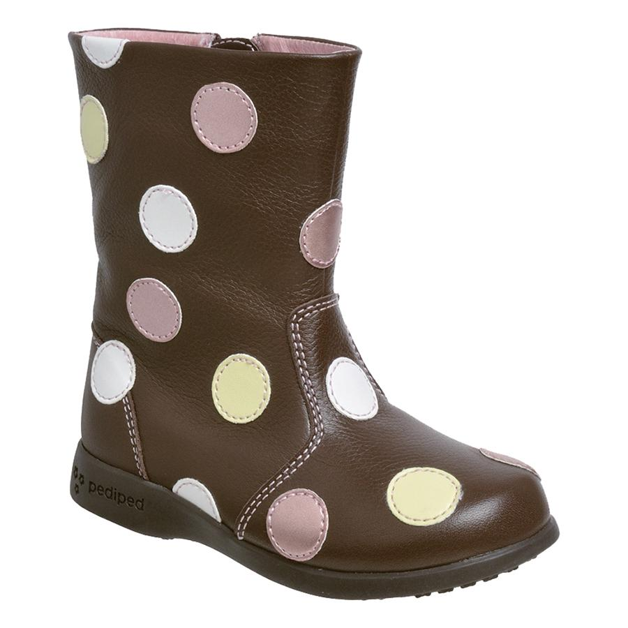 pediped flex giselle boot chocolate brown