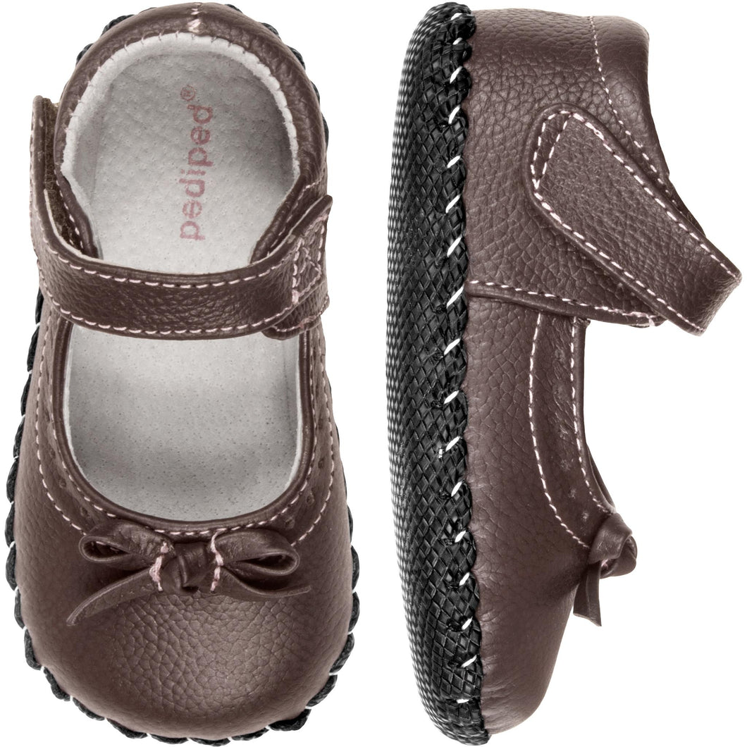 pediped originals isabella chocolate brown