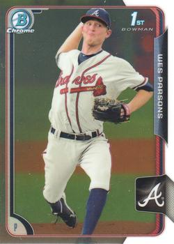 2015 Bowman Chrome Prospects  #BCP102 Wes Parsons, Atlanta Braves