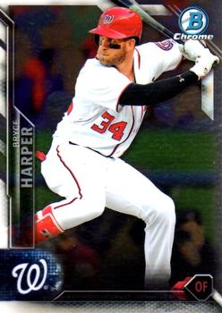 2016 Bowman Chrome #100 Bryce Harper, Washington Nationals