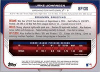 2015 Bowman Prospects #BP130 Jake Johansen, Washington Nationals