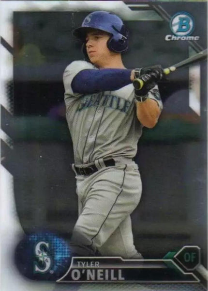 2016 Bowman Chrome Draft #BDC-139 Tyler O'Neill, Seattle Mariners
