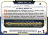 2015 Bowman Chrome #13 James Shields, San Diego Padres
