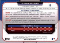 2015 Bowman Draft #16 Donnie Dewees, Chicago Cubs