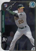 2015 Bowman Chrome #193 Mark Canha, Oakland Athletics (A's), Rookie Card (RC)