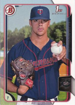 2015 Bowman Draft #198 Alex Robinson, Minnesota Twins