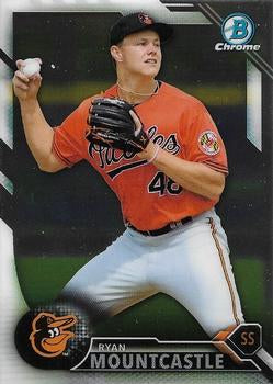 2016 Bowman Chrome Draft #BDC-199 Ryan Mountcastle, Baltimore Orioles