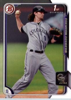 2015 Bowman Draft #200 Brendan Rodgers, Colorado Rockies