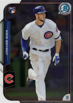 2015 Bowman Chrome #200 Kris Bryant, Chicago Cubs, Rookie Card (RC)