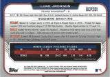 2015 Bowman Chrome Prospects  #BCP201 Luke Jackson, Texas Rangers