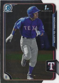 2015 Bowman Chrome Prospects  #BCP249 Michael De Leon, Texas Rangers