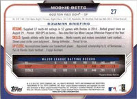 2015 Bowman #27 Mookie Betts, Boston Red Sox