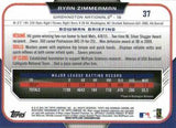 2015 Bowman Chrome #37 Ryan Zimmerman, Washington Nationals