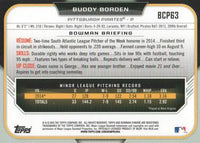 2015 Bowman Chrome Prospects  #BCP63 Buddy Borden, Pittsburgh Pirates