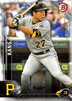 2016 Bowman #75 Jung Ho Kang, Pittsburgh Pirates