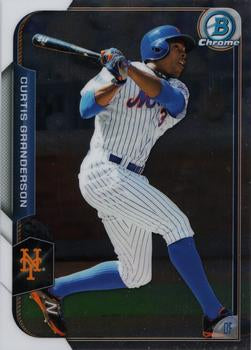 2015 Bowman Chrome #82 Curtis Granderson, New York Mets